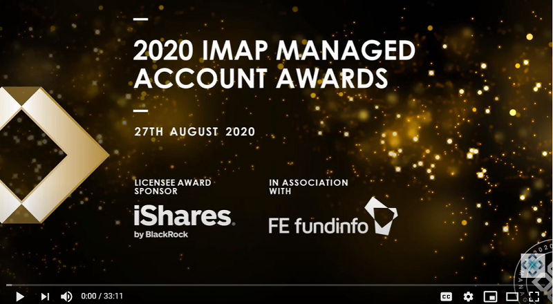 VIew and listen to the announcement of the winners of IMAP Managed Account Awards 2020 categories